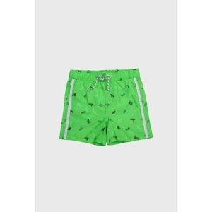 Lentiggini a Mila Swimwear Chlapecké plavkové šortky Želvy zelená 140