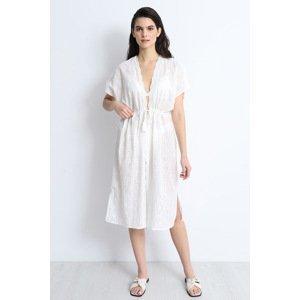 DOCA Plážové šaty Filippa bílá uni