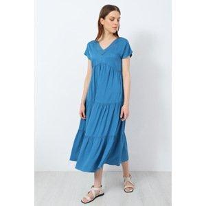 DOCA Plážové šaty Varvara modrá L/XL