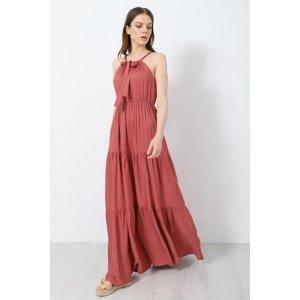 DOCA Plážové šaty Florentia cihlová L