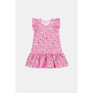 GarNA MAMA sp. Z o.o. Dívčí šaty Lamma růžová 128