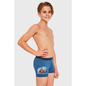 Cornette Chlapecké boxerky Extreme modrá 110/116