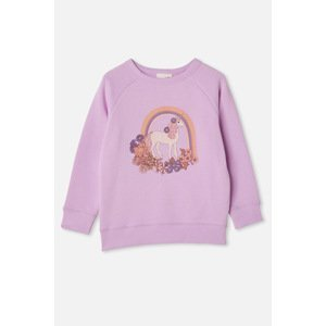 Cotton On Dívčí mikina Jednorožec fialová 5