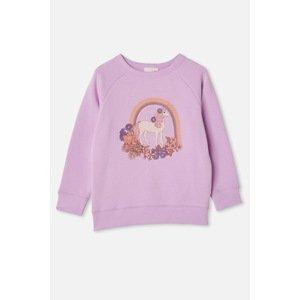 Cotton On Dívčí mikina Jednorožec fialová 8