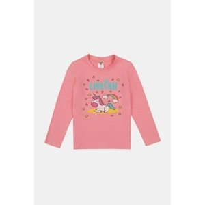 GARNA MAMA sp. z o.o. Dívčí tričko Sleeping unicorn růžová 128