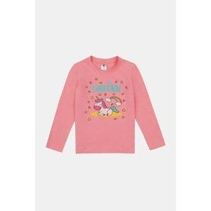 GARNA MAMA sp. z o.o. Dívčí tričko Sleeping unicorn růžová 134