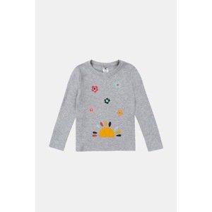 GARNA MAMA sp. z o.o. Dívčí tričko Happy šedá 134