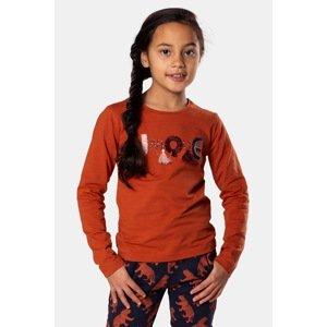 DJ Dutchjeans Dívčí tričko Rusty hnědá 134