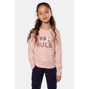 DJ Dutchjeans Dívčí tričko Rebel růžová 110