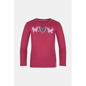 LOAP Dívčí tričko LOAP Bifie tmavě růžové tmavěrůžová 122/128