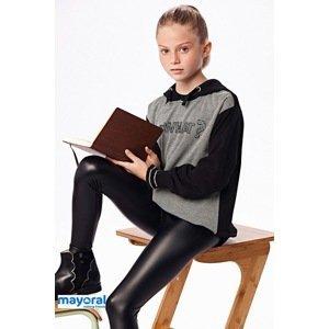 Mayoral Moda Infantil, S:A.U. Komplet dívčí mikiny a legín Mayoral So what černošedá 14