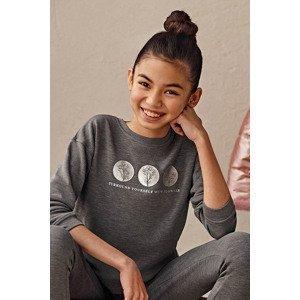 Mayoral Moda Infantil, S:A.U. Dívčí mikina Mayoral Flowers šedá 14