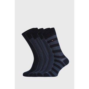 Tommy Hilfiger 5 PACK modrých ponožek Tommy Hilfiger Birdeye navy 43-46