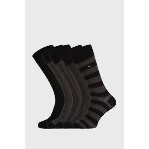 Tommy Hilfiger 5 PACK černých ponožek Tommy Hilfiger Birdeye černá 43-46