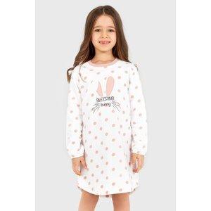 BLACKSPADE Dívčí noční košile Soft  Bunny bílá 140