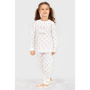 BLACKSPADE Dívčí hřejivý komplet Soft Bunny bílá 152