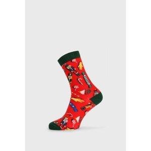 John Frank Dámské vánoční ponožky Nut Cracker červená 36-40