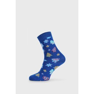 John Frank Dámské vánoční ponožky Sugar cookies modrá 36-40