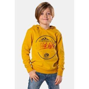 DJ Dutchjeans Chlapecká mikina Wildlife žlutá 128