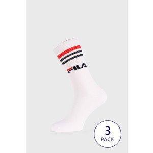 FILA 3 PACK vysokých ponožek FILA Street bílá 39-42