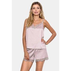 Nipplex Dámské saténové pyžamo Galina lila XL
