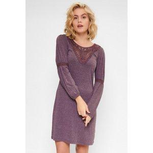 LingaDore Dámská noční košilka Marl fialová XS