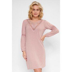 LingaDore Dámská noční košilka Marl růžová XXL