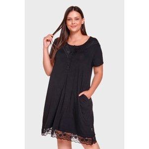 Doctor Nap Noční košile Henriette černá XL