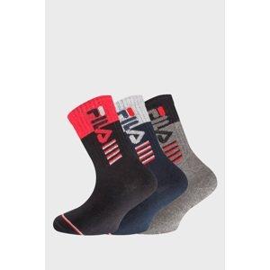 FILA 3 PACK chlapeckých ponožek FILA Warm Cotton barevná 31-34