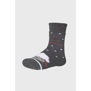 Ysabel Mora Dívčí ponožky Ovečka tmavěšedá 26-28