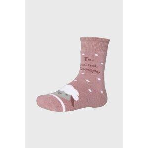 Ysabel Mora Dívčí ponožky Ovečka růžová 32-34