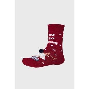 Ysabel Mora Dětské vánoční ponožky Sobík červená 32-34