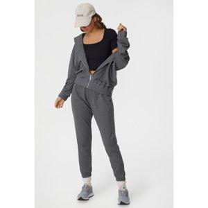 Cotton On Dámská mikina Panelled tmavě šedá šedá XL