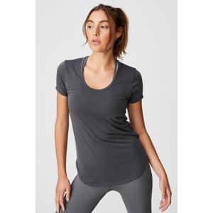 Cotton On Dámské tmavě šedé sportovní triko šedá M
