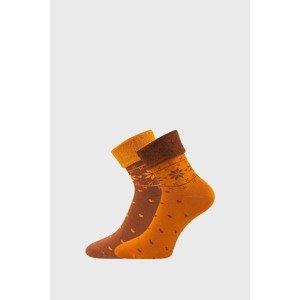 Lonka 2 PACK hřejivých ponožek Frotana oranžová 39-42