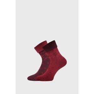 Lonka 2 PACK hřejivých ponožek Frotana vínová 39-42