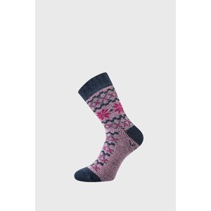 VoXX Dárkový set hřejivých ponožek a rukavic Trondelag růžová 39-42