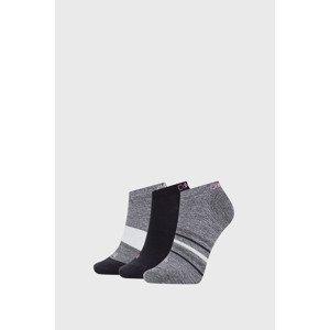 Calvin Klein 3 PACK dámských ponožek Calvin Klein Clare černé černá uni