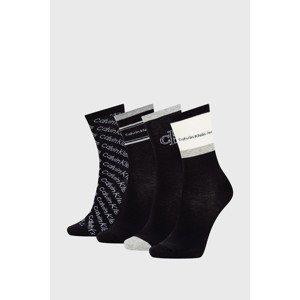 Calvin Klein 4 PACK dámských ponožek Calvin Klein Eve černé černá uni