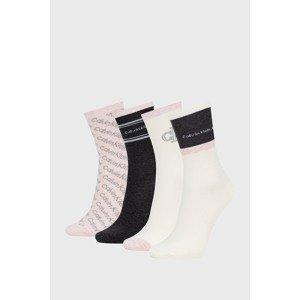 Calvin Klein 4 PACK dámských ponožek Calvin Klein Eve barevná uni