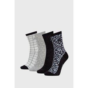 Calvin Klein 4 PACK dámských ponožek Calvin Klein Donna černá uni