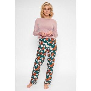 LingaDore Dámský pyžamový set Flower vícebarevná XXL