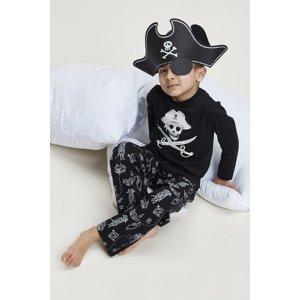 Charlie Choe Chlapecké pyžamo Pirate černá 134/140