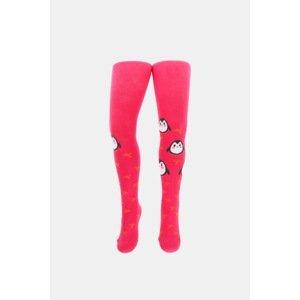 Gatta Dívčí punčochové kalhoty Tučňáci růžové růžová 128/134