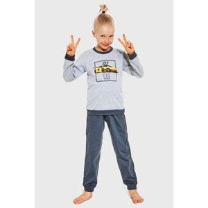 Cornette Chlapecké pyžamo Team šedá 134/140