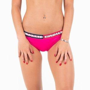 Tommy Hilfiger dámské růžové plavkové kalhotky - XS (501)