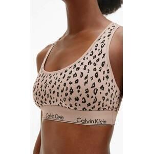 Calvin Klein dámská vzorovaná braletka - S (JN6)