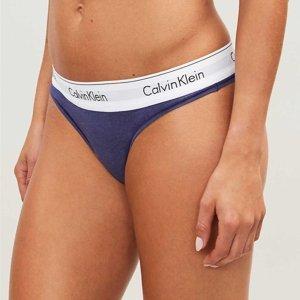 Calvin Klein dámské modré tanga - S (PNH)