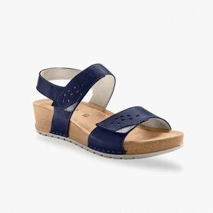 Blancheporte Sandály se širokými pásky, námořnicky modré námořnická modrá 36