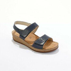 Blancheporte Sandály se širokými pásky, námořnicky modré námořnická modrá 41